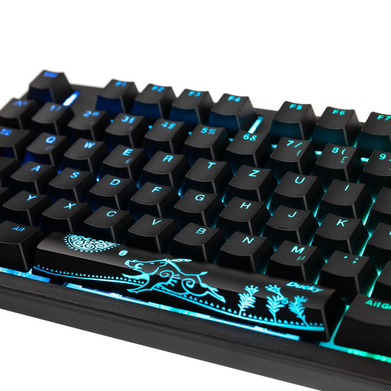 1 2 Zoll Adapter Ducky Shine 7 Pbt Gaming Tastatur, Mx-brown, Rgb Led