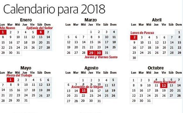 Calendario laboral 2018 los días festivos en España El Correo