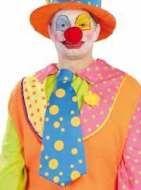 Orange & Blue Clown Tie