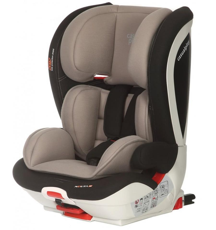 Silla Coche Grupo 1 2 3 Isofix Reclinable Silla Nauta Fix Grey Casualplay Casualplay