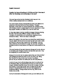 of mice and men friendship theme essayof mice and men theme essay   nwostemresources org
