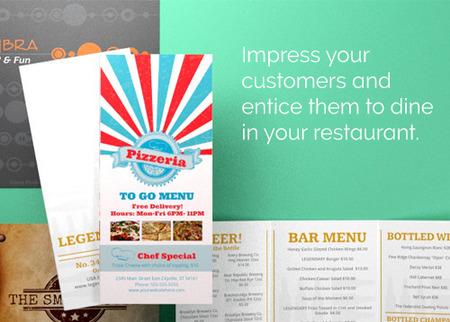 Restaurant Menu Printing - Full Color Menus PrintPlace