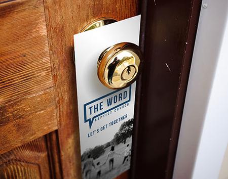 Church Door Hanger Printing - Gloss, Matte or UV PrintPlace