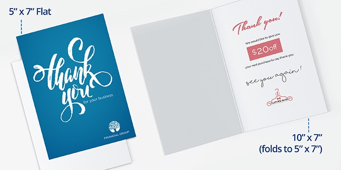 Custom Thank You Cards PrintRunner