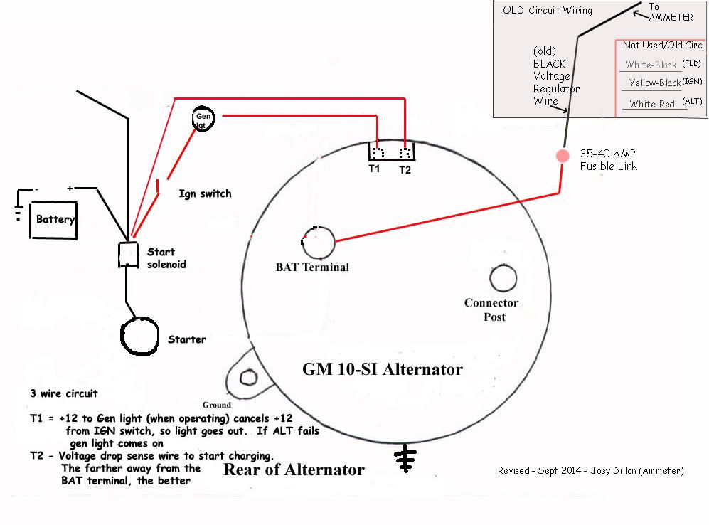 1 Wire Alternator Wiring Diagram For Ammeter Wiring Diagram Library