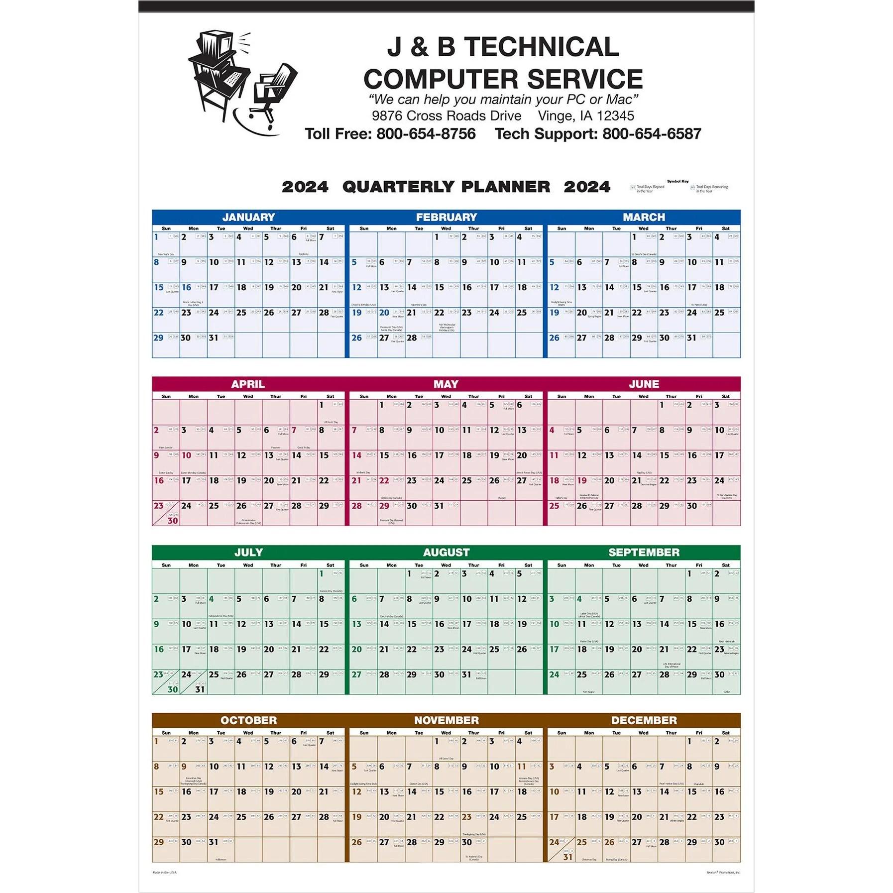Custom Wall Calendars Quality Logo Products, Inc