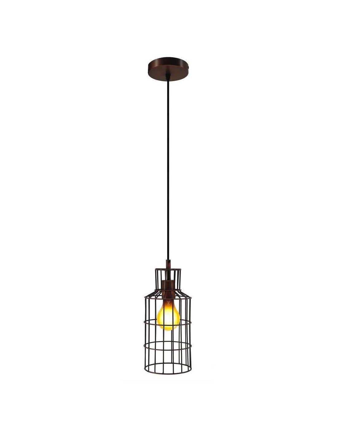 Lampe Suspension Cuivre Suspension Adhara Cuivre Kayoom Marron