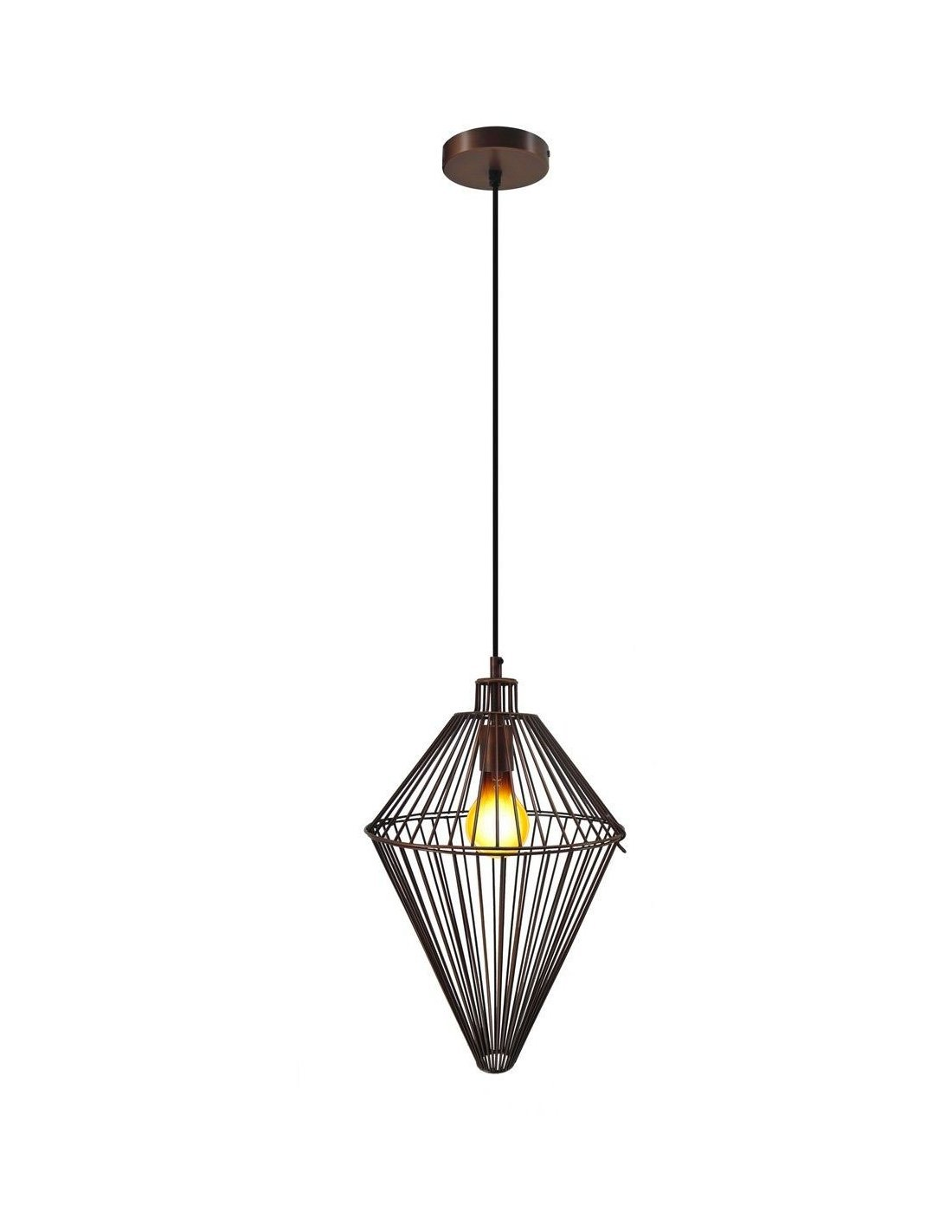 Lampe Suspension Cuivre Suspension Delta Cuivre Kayoom Marron