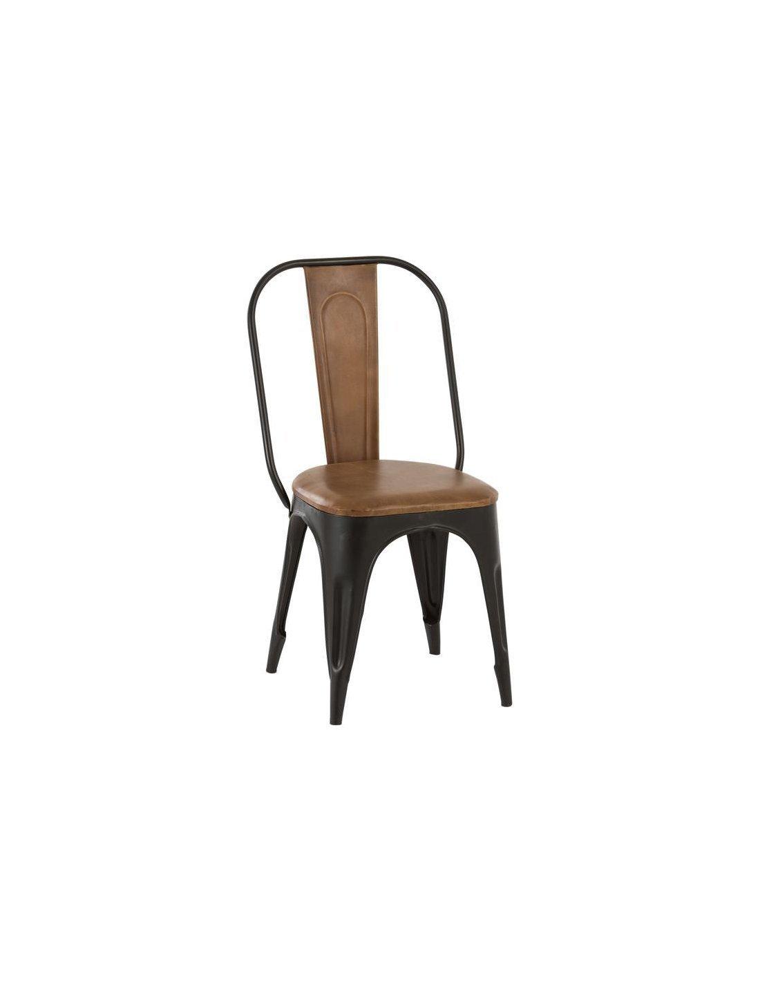 Chaise Metal Cuir