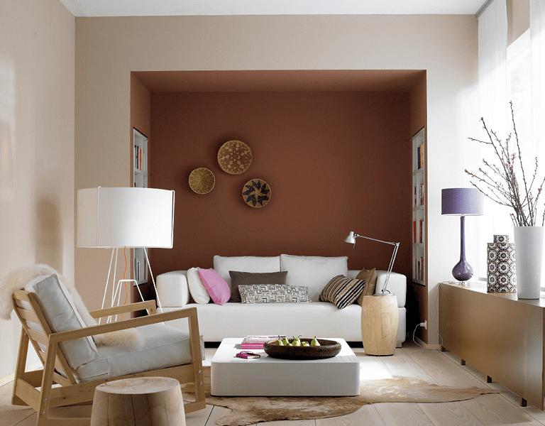 Amerikanischer Landhausstil Schlafzimmer  Wohnen Mit Farben Wandfarben Braun Rot Und Beige