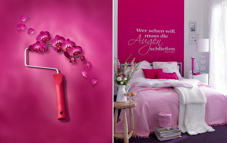 Anstrich Ideen Schlafzimmer  Sch214;ner Wohnen Trendfarbe Quot;orchideequot; Bild 31 Sch214;ner
