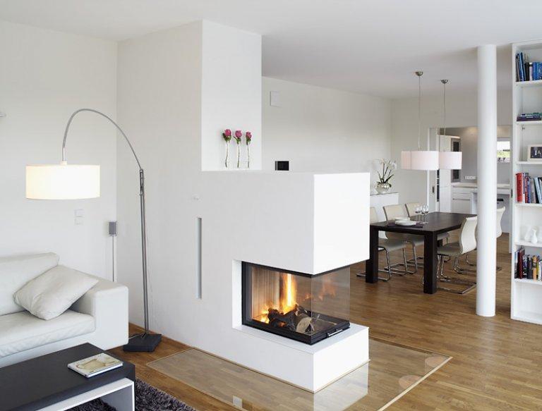 Offener Kamin Wohnen Pinterest Offener kamin, helle - offene küche wohnzimmer trennen