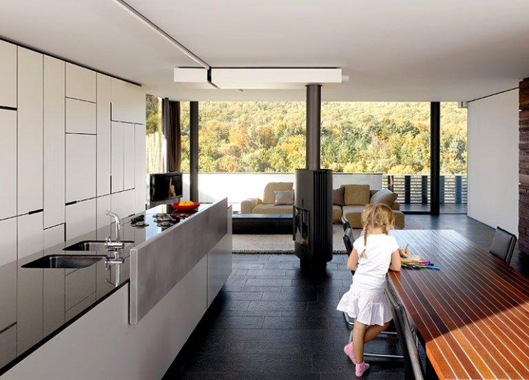Kaminofen verbindet Wohn- und Essbereich - Bild 5 - SCHÖNER WOHNEN - esszimmer mit kamin