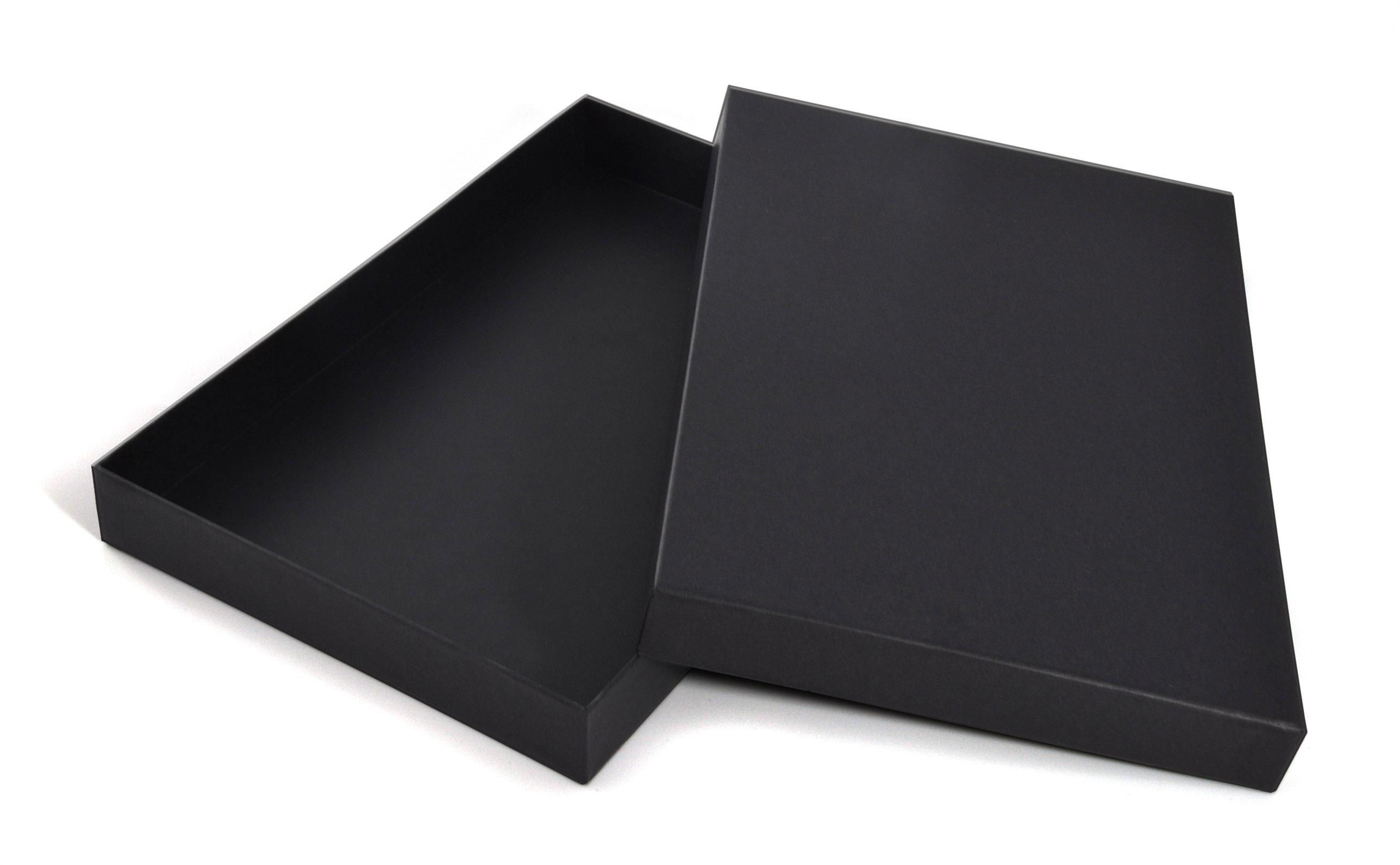 Stationary Boxes Luxury A4 Black Gift Box Stationery Box 35mm Depth Wpa4bl