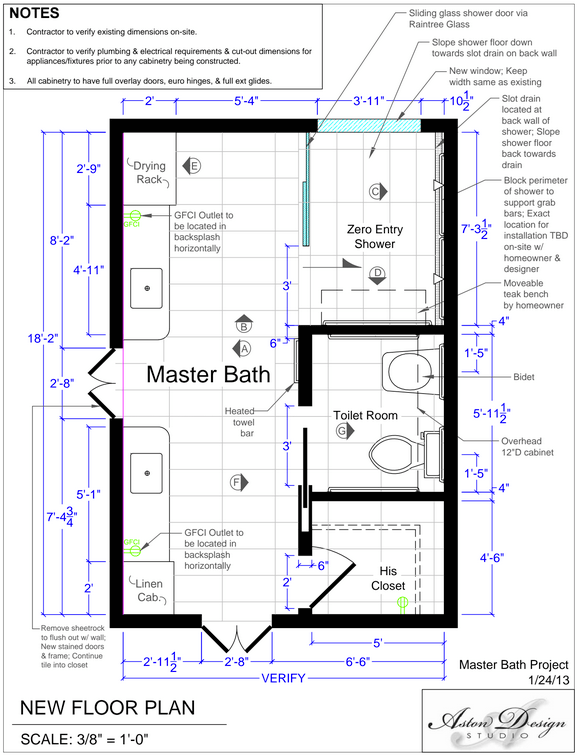Before After An Accessible Master Bathroom Is Created