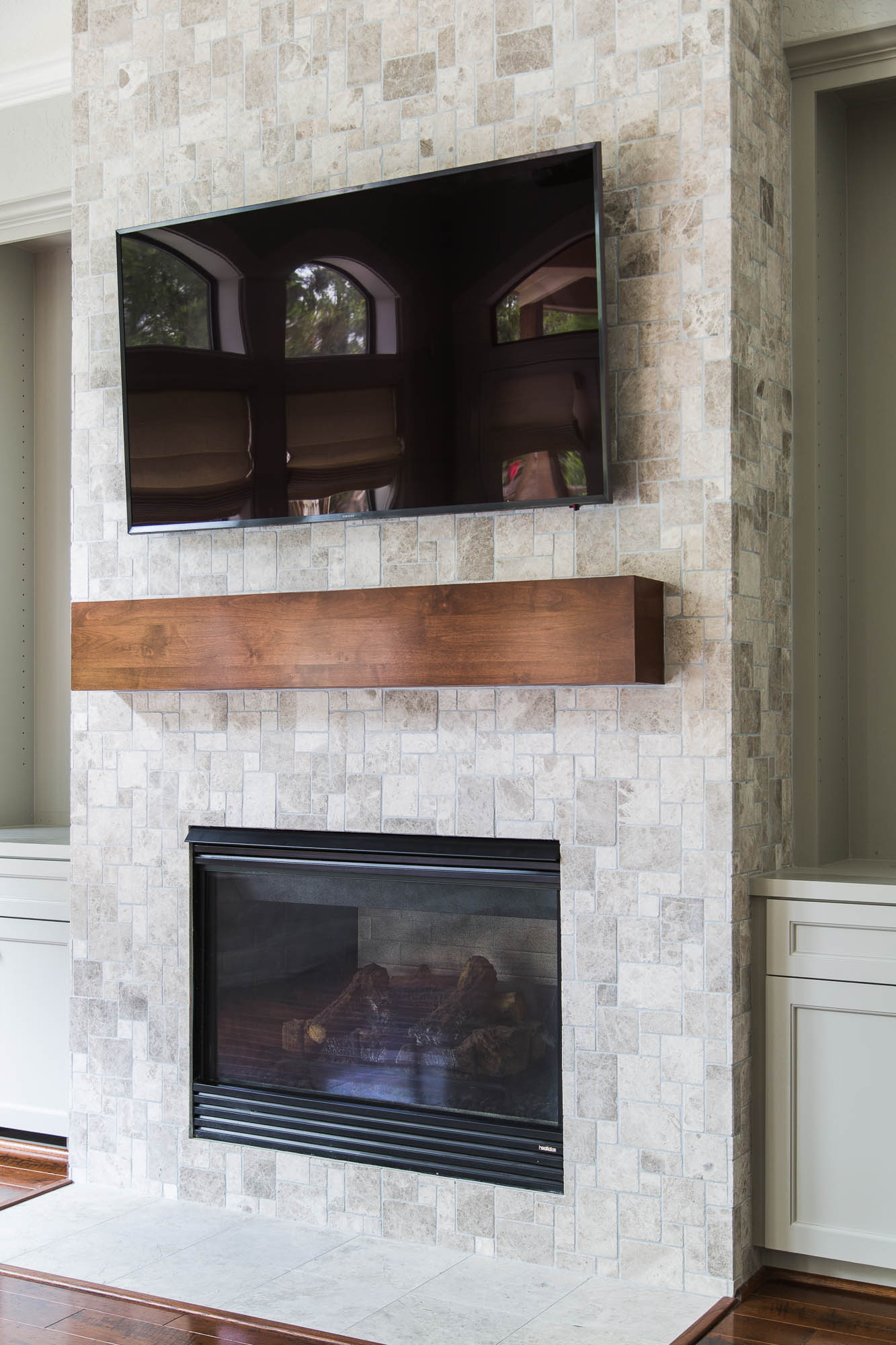 Your Fireplace Wall39s Finish Consider This Important