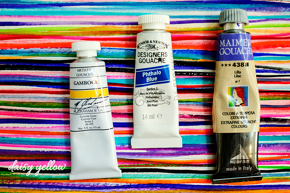 Organizing Yummy Tubed Watercolor + Gouache Paint