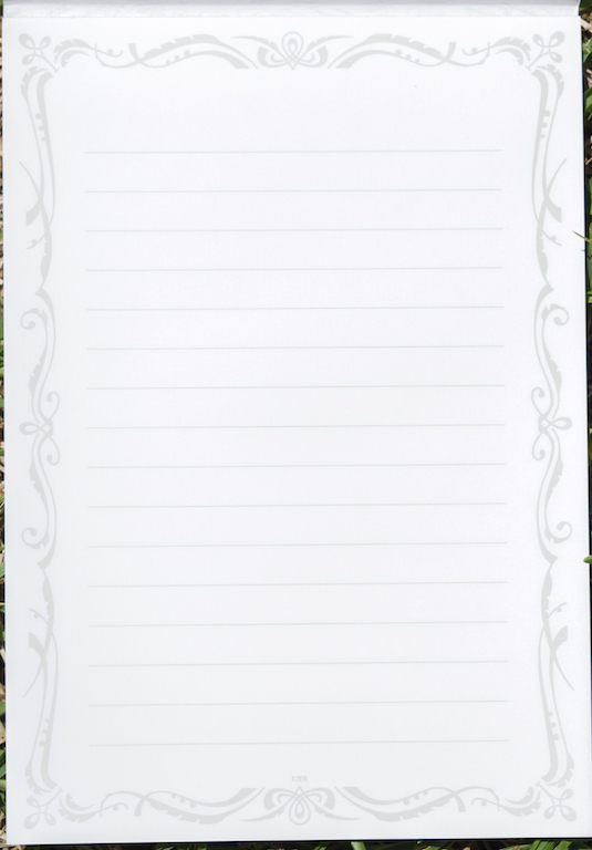 Life L Brand White Writing Paper A5 A Review \u2014 The Pen Addict - horizontal writing paper