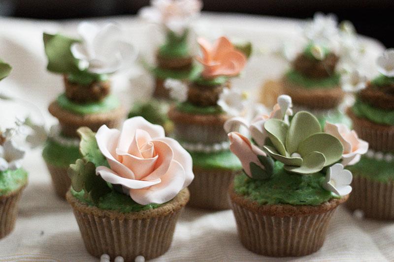 128 John St.-Tiered Spring Pistachio Cupcake W. Pistachio Frosting