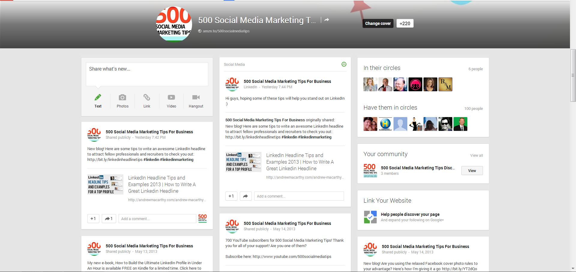 Google+ (Plus) Cover Photo Template PSD May 2013 Photoshop Google+