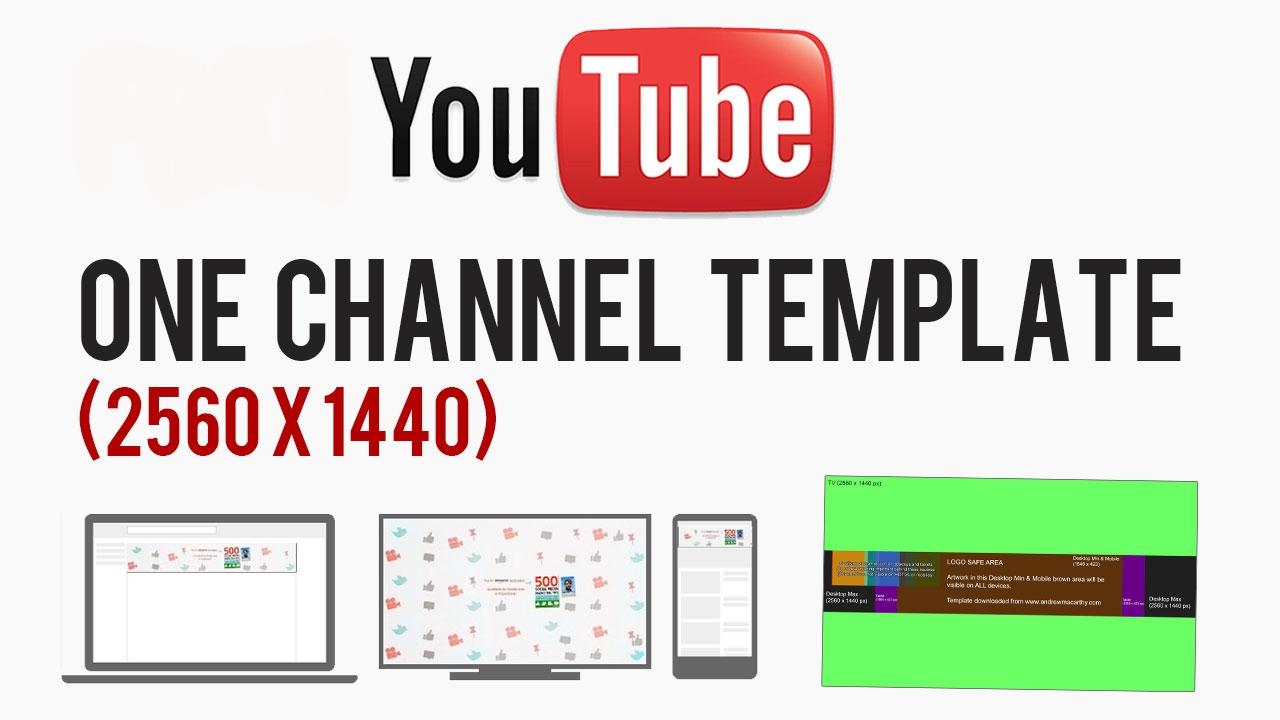 YouTube Cover Art Template PSD 2560 x 1440 Photoshop, GIMP