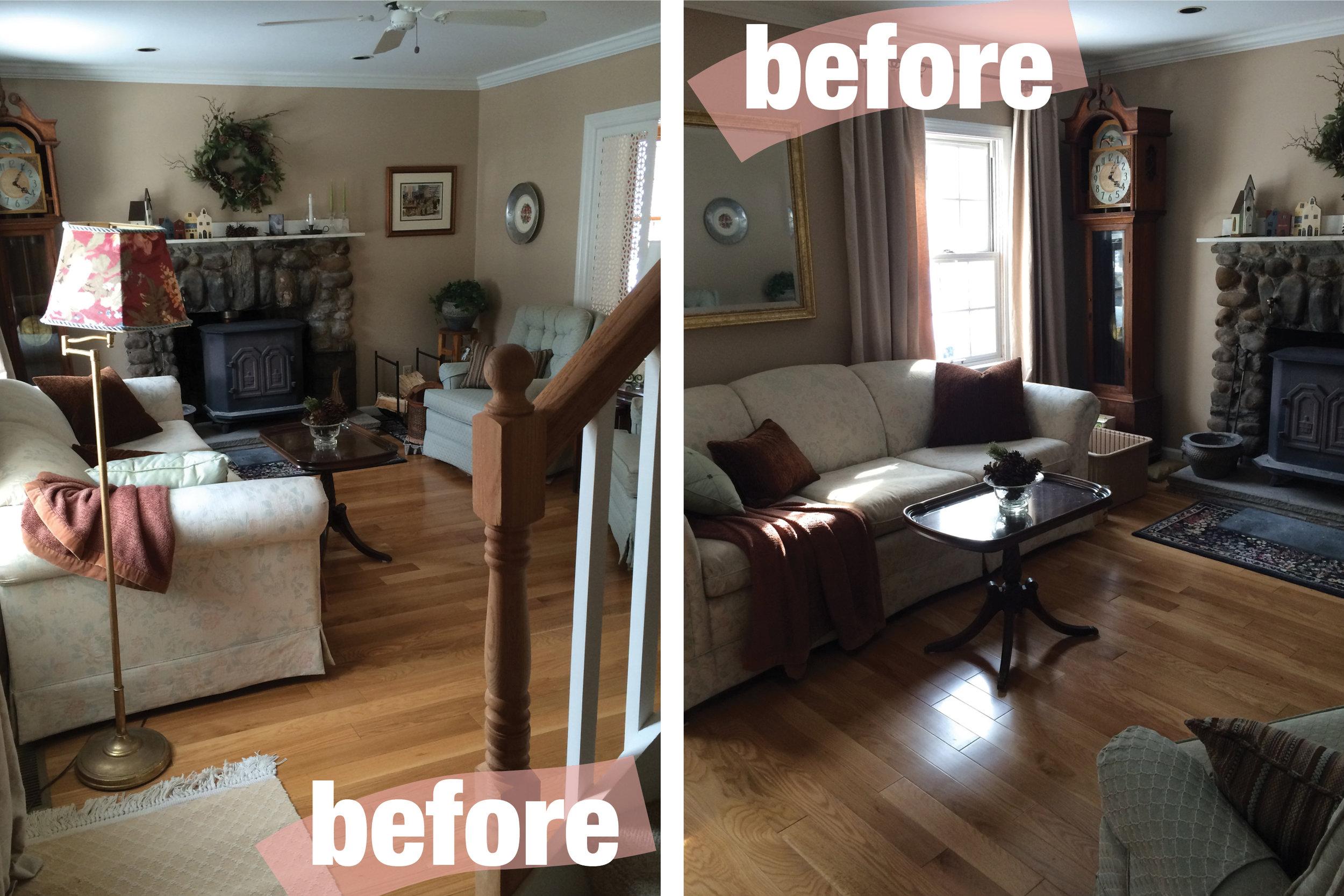 before + after: a quaint living room  rehabitat