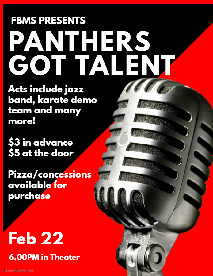 Talent Show is this Friday, Feb 22! \u2014 Frank Black Middle School