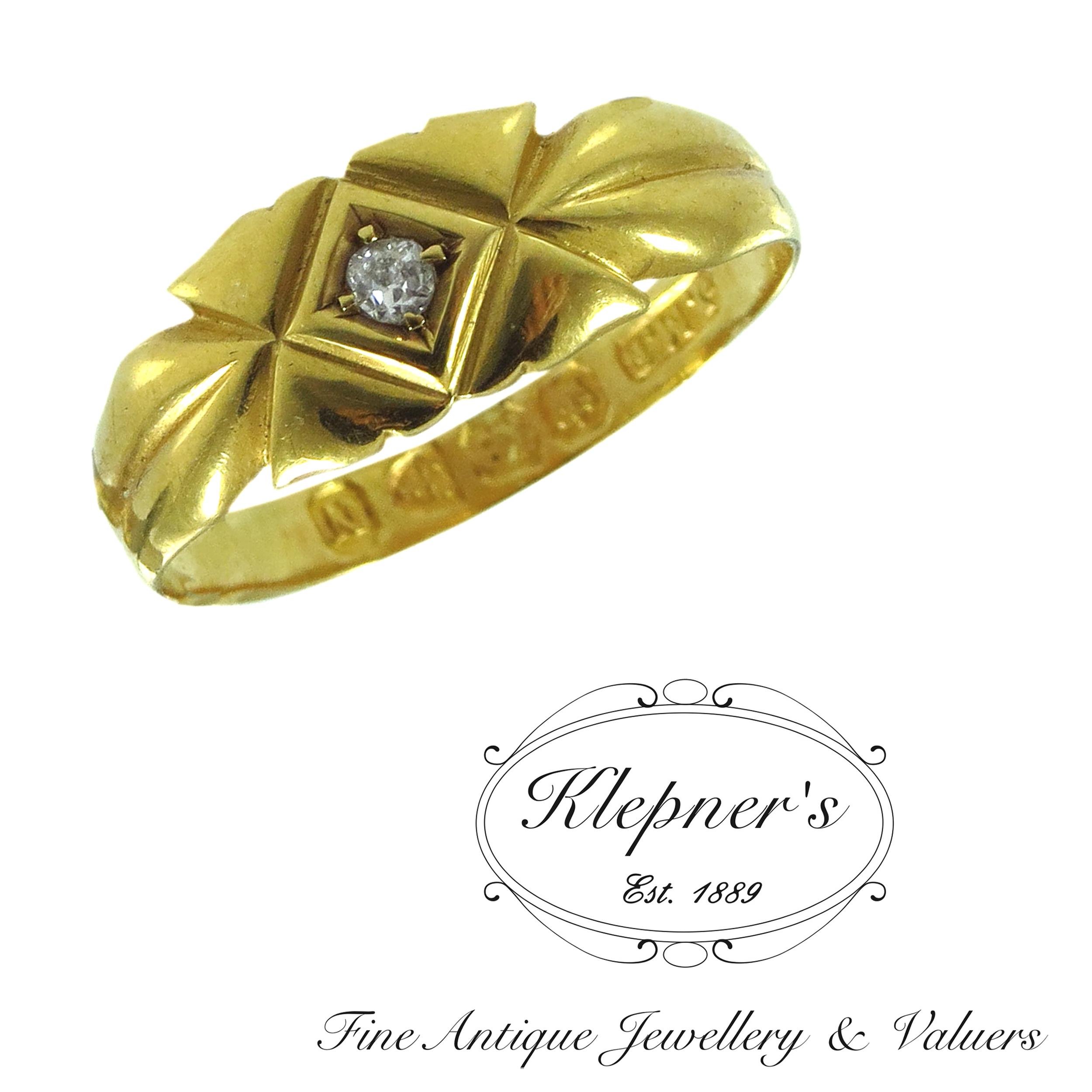 Antique late victorian diamond ring klepner s fine