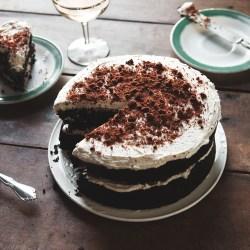 Chocolate Birthday Cake With Espresso Bourbon Frosting Cookie