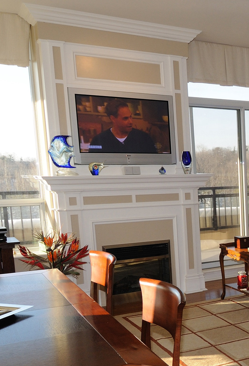 Television Over Fireplace Design When To Mount A Tv Over A Fireplace Spaces Custom Interiors