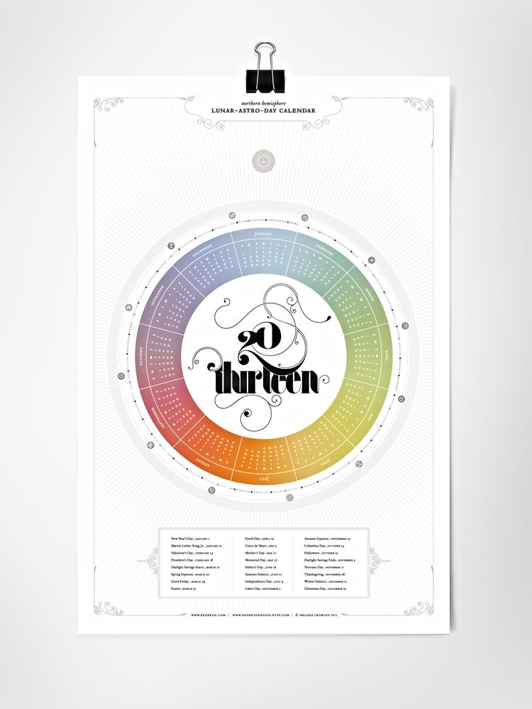 Twenty Thirteen Lunar-Astro-Day Calendar \u2014 Melissa Crowley - circular calendar