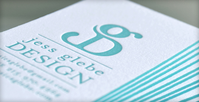 Rise  Shine, my letterpress business cards are here! \u2014 Jess Glebe