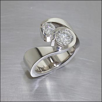 non traditional engagement rings non traditional wedding rings Style