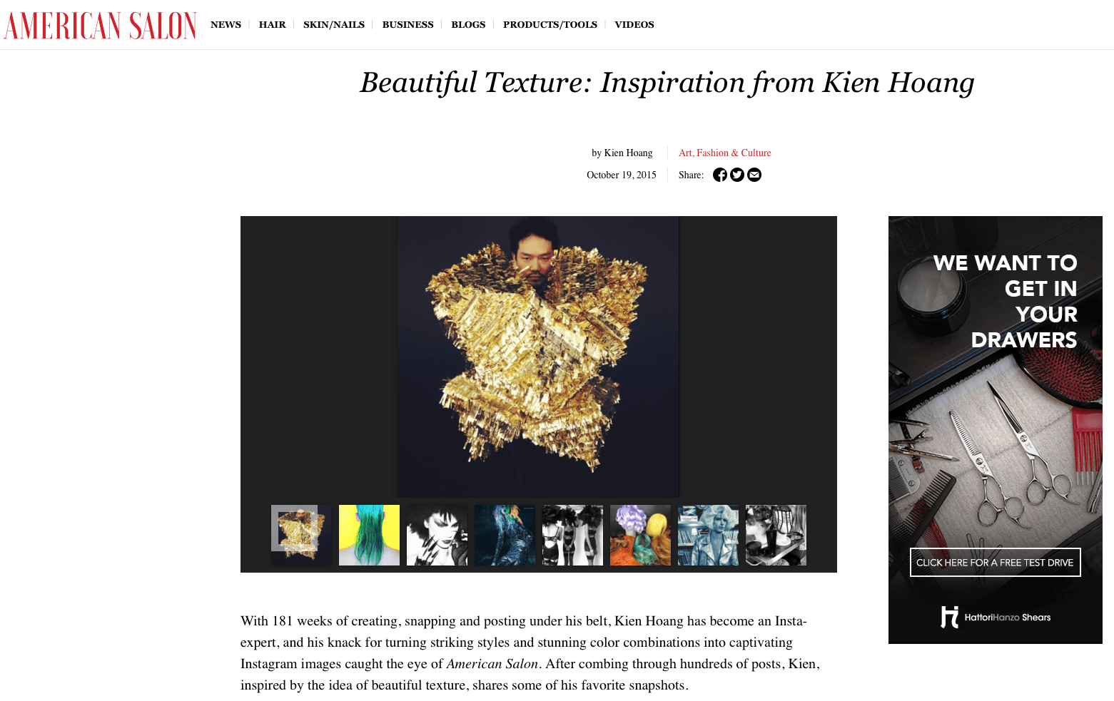 Salon Inspiration American Salon Feature Beautiful Texture Inspiration From Kien