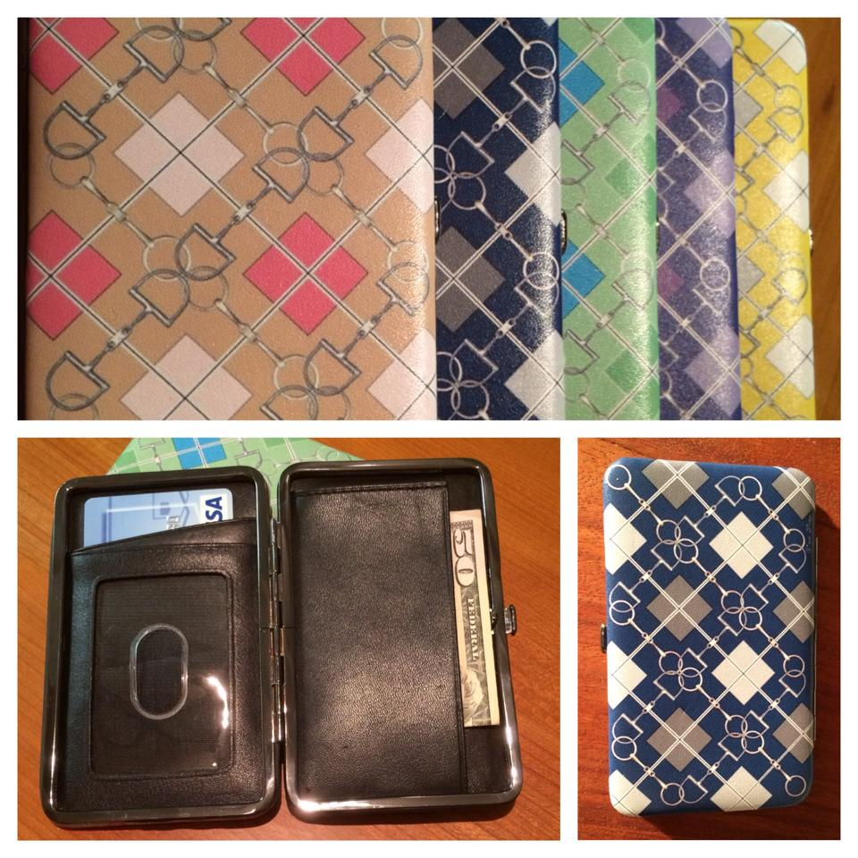Mix And Match Deco Leather Argyle Wallets