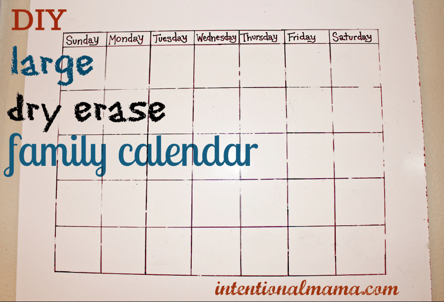 Wall Calendars Dry Erase Plan Your Future With Dry Erase Wall Calendars Up To 2020 Diy Dry Erase Family Calendar Great For Classrooms Too