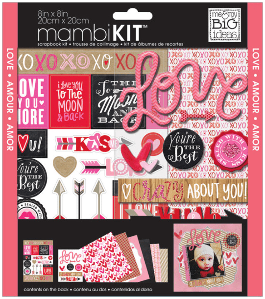 crazy about you 8x8 mambikit scrapbooking kit me my big ideas