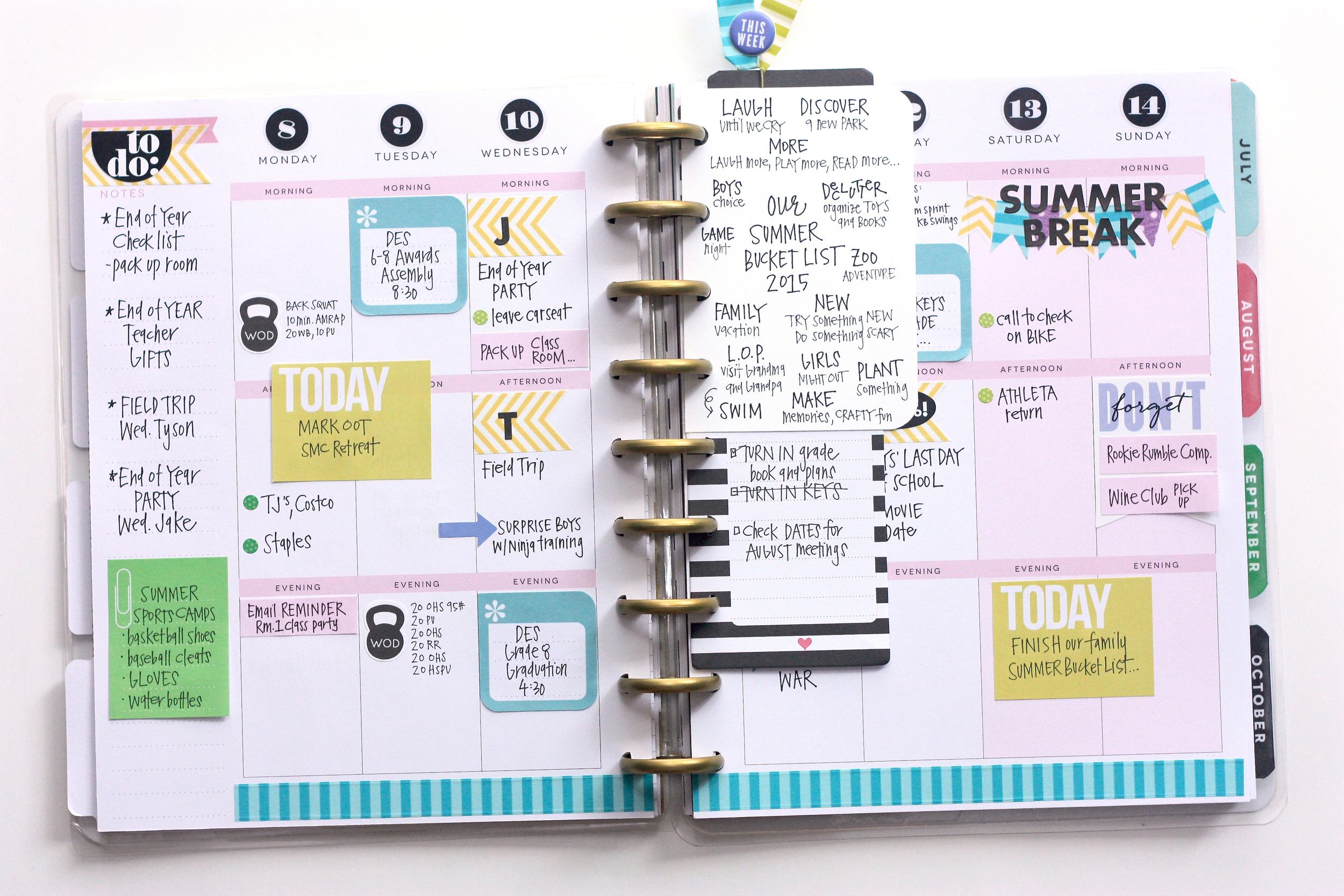 The Happy Planner™ monthly vs weekly June spreads \u2014 me  my BIG ideas