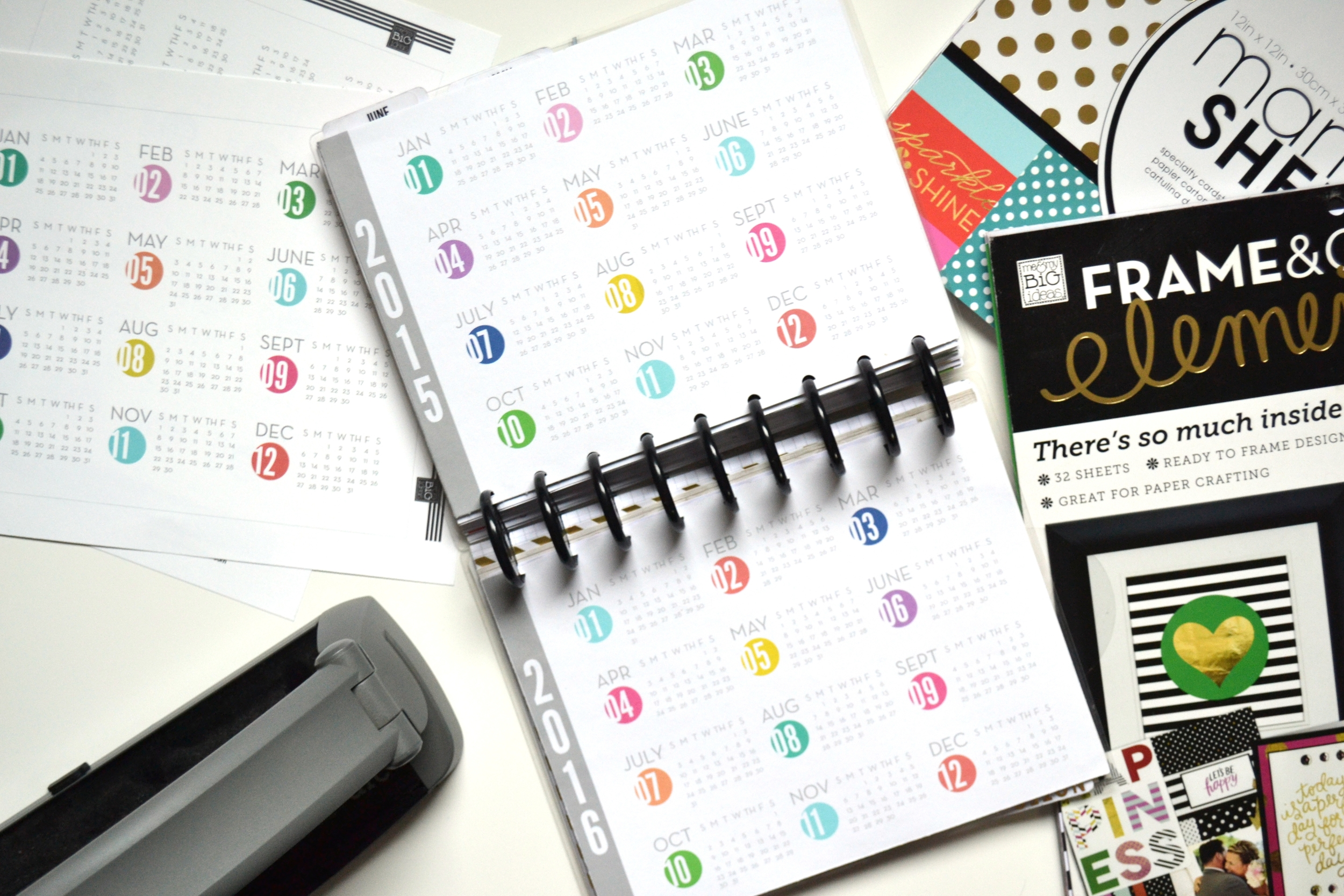 YEAR AT A GLANCE\u0027 free printables for The Happy Planner™ \u2014 me  my