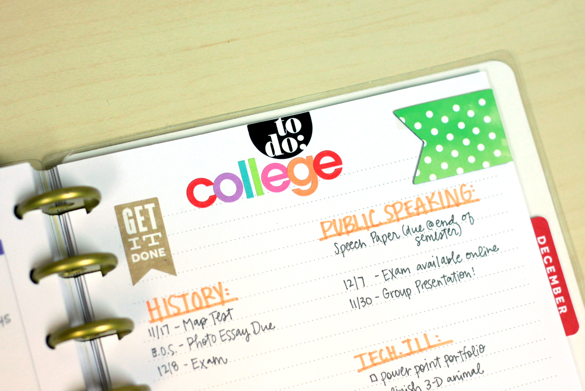 The Happy Planner™ College ToDos \u2014 me  my BIG ideas