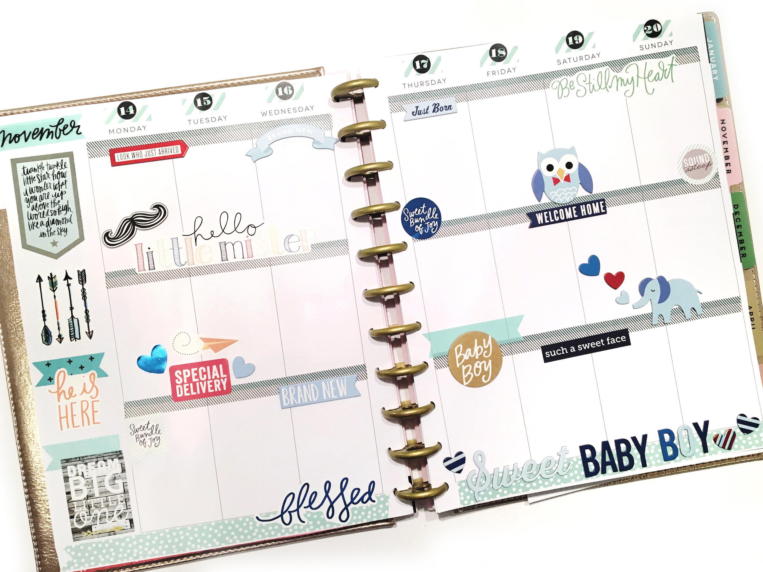 baby boy memory planning in the BIG Happy Planner™ \u2014 me  my BIG ideas