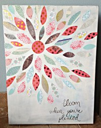Summer Crafting Day 12 - Paper Flower Canvas Art  me & my ...