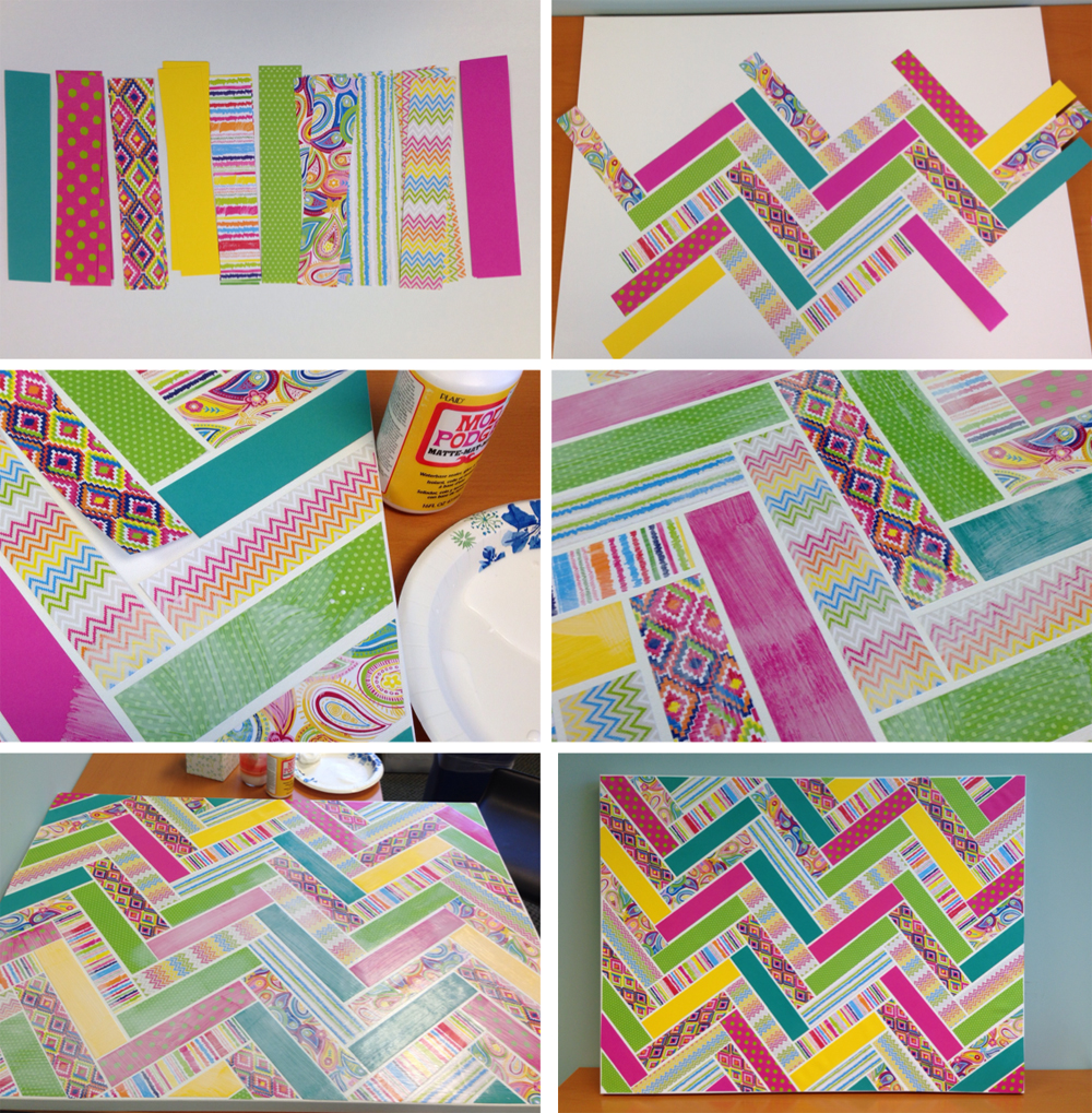 Pinterest inspired chevron patterned canvas with me my big ideas paper pad pod