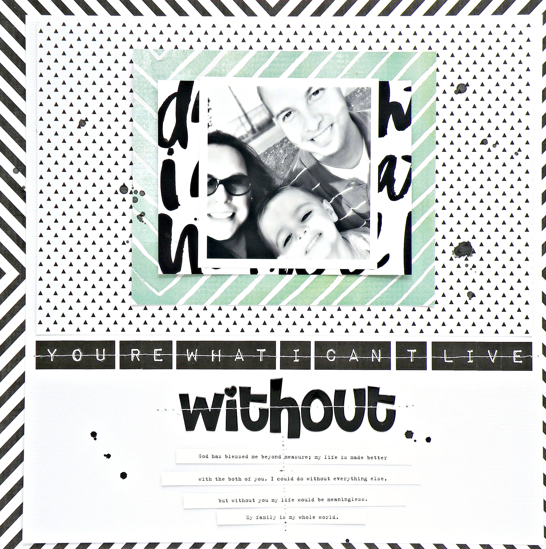 I can t live without scrapbook page by design team member stephanie buice me
