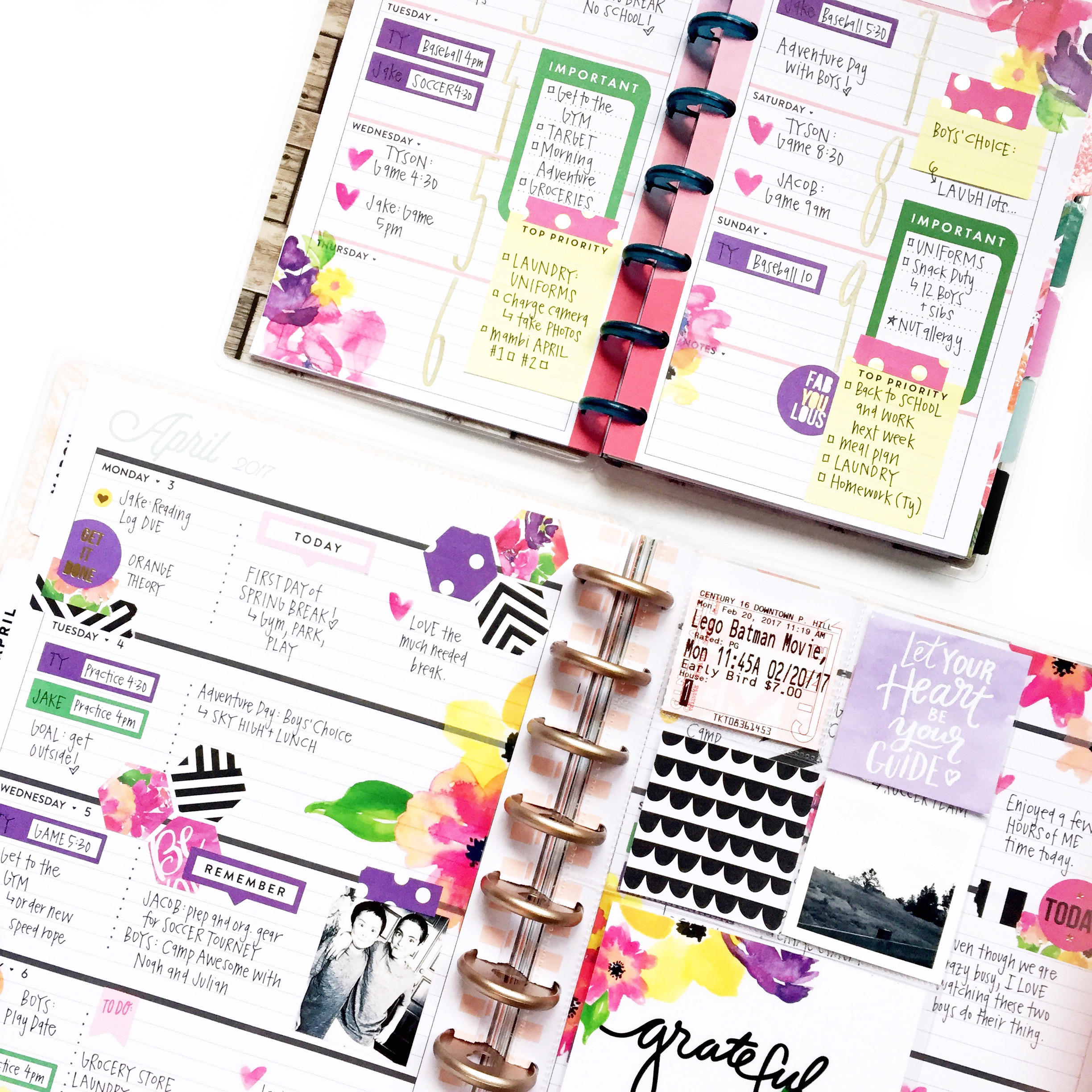 Big W Stickers Horizontal Happy Planning W Floral Stickers A Mini To Match
