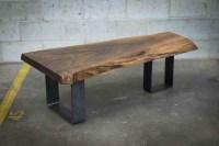 Live edge black walnut coffee table  Bois & Design ...