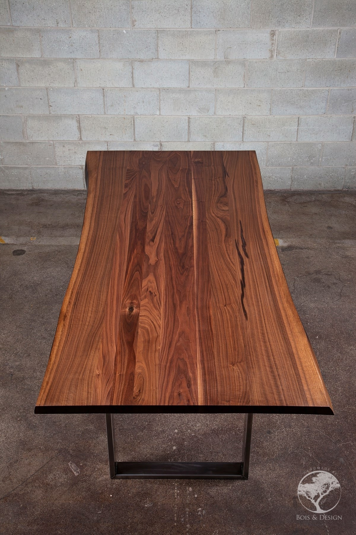 Table En Bois Design Diverso Live Edge Black Walnut Dining Table Bois Design