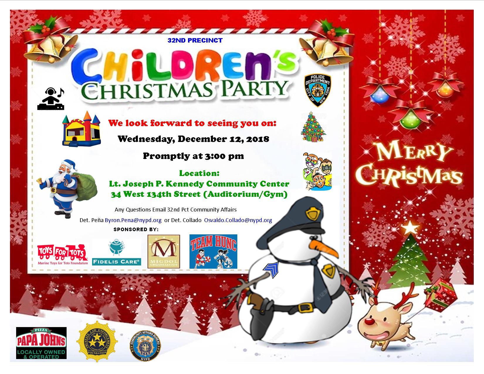 Children\u0027s Christmas Party \u2014 THE MIGDOL ORGANIZATION