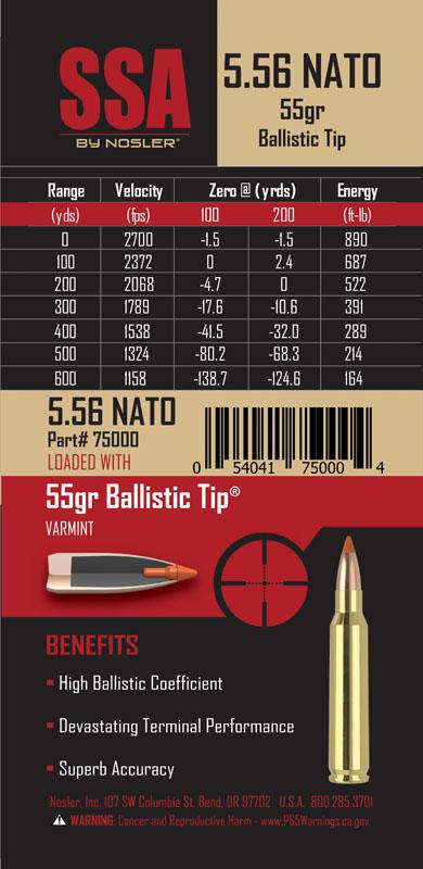 SSA Ammunition Nosler - Bullets, Brass, Ammunition  Rifles
