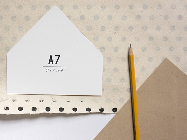 DIY   Envelope Liners Evermore Paper Co - A7 Envelope Template